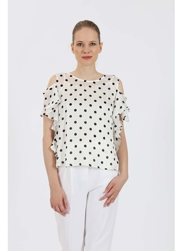 Vitrin Bluz Beyaz